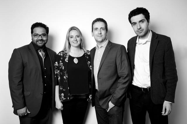 Các nhà đồng sáng lập Blippar:Ambarish Mitra, Jess Butcher, Steve Spencer và Omar Tayeb.