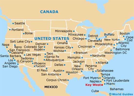 Kết quả hình ảnh cho Key West Mỹ