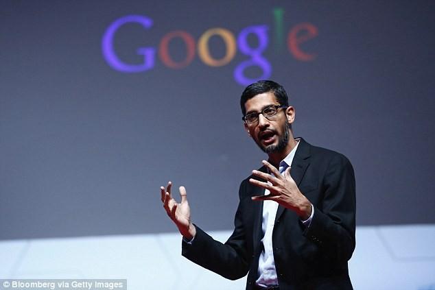 Sundar Pichai, một trong những người quyền lực nhất giới công nghệ hiện tại. Ảnh:Daily Mail UK.
