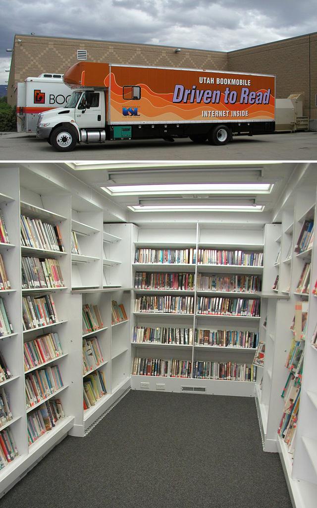 Ngay cả ở hiện tại, xe sách vẫn được duy trì ở một số nơi như một hình ảnh đẹp, khuyến khích thói quen đọc sách trong cộng đồng dân cư. Những chuyến xe này vẫn tiếp tục mang đến niềm vui mở ra từ trang sách. Trong ảnh là xe sách lưu động rất hiện đại ở quận Sanpete, bang Utah, Mỹ.