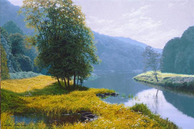 Sắc xanh mát lành trong tranh họa sĩ Anh