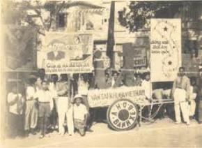 Diễu hành cổ động phong trào Bình dân học vụ