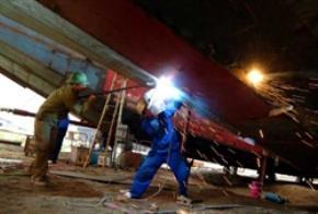 Xưởng đóng tàu của Công ty TNHH đóng mới và sửa chữa tàu Việt Tiến