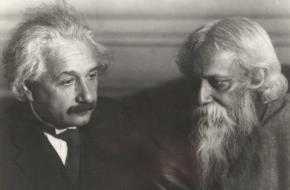 Einstein và Tagore.
