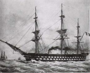 Tàu thủy hơi nước của hải quân Pháp cùng thời với những chiếc tàu thủy hơi nước đầu tiên của VN ẢNH: T.L
