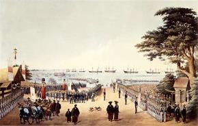 4 tàu chiến Mỹ của Đô đốc Mỹ Matthew Perry ghé nước Nhật 7 tháng 8 năm 1853