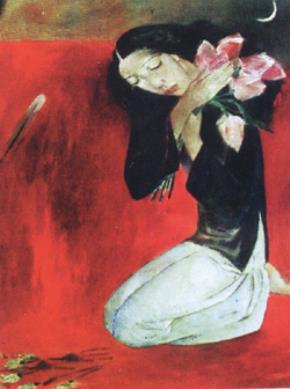 Thiếu nữ và hoa