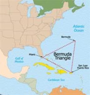 Bản đồ vùng Tam giác quỷ Bermuda
