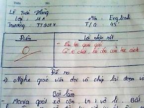 """Lời phê """"không đụng hàng"""" của các thầy cô giáo"""