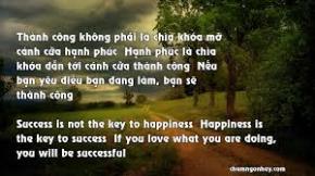 Hạnh phúc dẫn dắt thành công