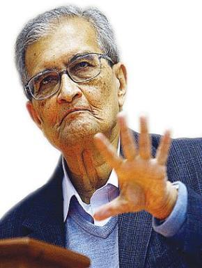 """Nhà kinh tế Amartyr Sen - Nobel kinh tế năm 1984 """"Sự phát triển được coi là một quá trình mở rộng các quyền tự do dân chủ thực sự mà người dân được hưởng"""". (""""Development as Freedom"""", Amartya Sen)"""