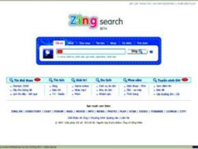 Zing search, một công cụ tìm kiếm mới ở VN.