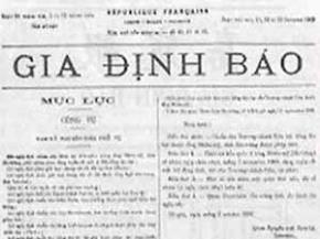 Gia Định báo - tờ báo chữ Quốc ngữ đầu tiên ra đời năm 1865. (Nguồn: Internet)