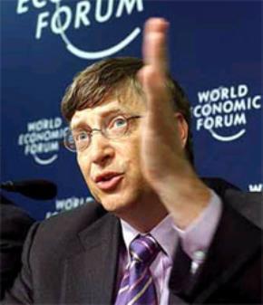 Bill Gates, biểu tượng của sự giàu có.