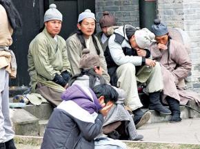 Diễn viên Trung Quốc tham gia đóng phim Đường tới thành Thăng Long. Ảnh: Phạm Xuân Hải