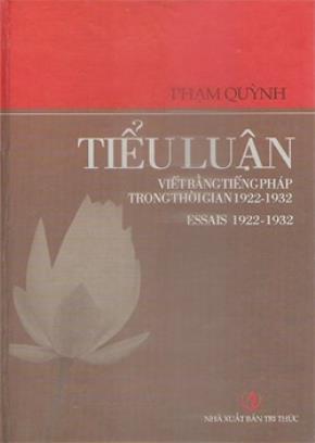 Phạm Quỳnh - Tiểu luận viết bằng tiếng Pháp trong thời gian 1922-1932