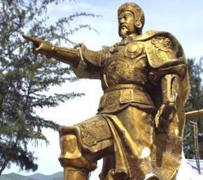 Tượng Trần Hưng Đạo được  Công ty TNHH Mỹ thuật và Thương mại Thăng Long đúc bằng đồng đỏ (Loại1), phần tượng cao 5,8 mét, nặng khoảng 10 tấn.