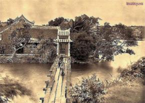 Cầu Thê Húc và đền Ngọc Sơn thuở ban đầu