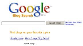 Google tiếp tục mở rộng thị phần tìm kiếm của mình với Google Blog Search