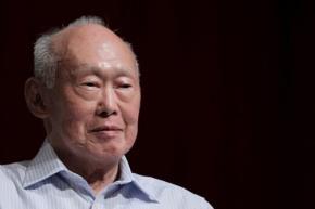 Ông Lý Quang Diệu trong một cuộc phỏng vấn với báo đài Singapore ngày 14.9.2011 - Ảnh: Reuters
