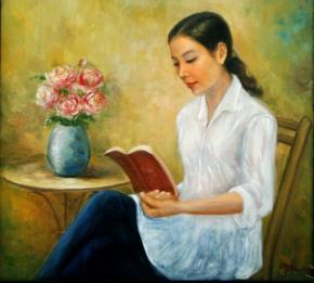 """""""Nhật ký"""" – tranh của nữ họa sĩ Nguyễn Lan Phương"""