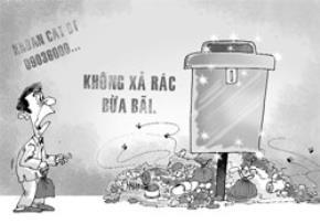 Thùng rác hiện đại