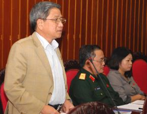"""Đại biểu Nguyễn Minh Thuyết: """"Để đầu tư đường sắt cao tốc, lấy đâu ra 56 tỷ USD và đây không phải con số cuối cùng"""". Ảnh: TTXVN."""