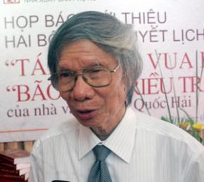 Nhà văn Hoàng Quốc Hải. Ảnh: Hi Lam