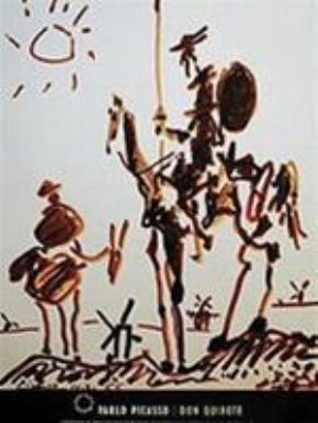 """Don Kihôte"" - tranh của Picasso"