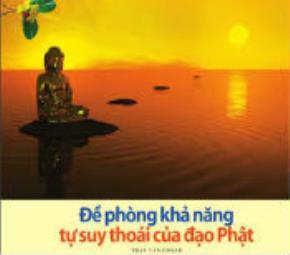 Đề phòng khả năng tự suy thoái của đạo Phật