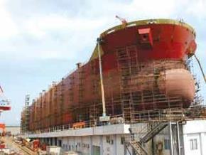 Nhà máy đóng tàu Phà Rừng thuộc tập đoàn Vinashin. Ảnh: Đức Thanh.