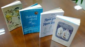 Bốn tựa sách của các tác giả 8X lọt vào top 10 sách bán chạy nhất tại Hội sách lần 8-2014 - Ảnh: Châu Anh