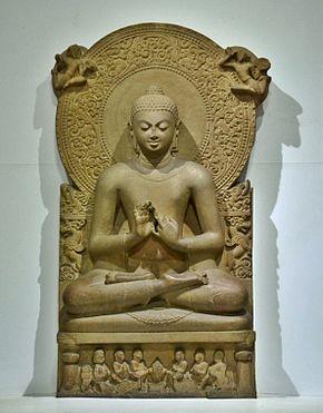 Một bức tượng của Phật tại Sarnath, thế kỷ thứ 4 Công Nguyên.