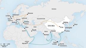 """Bản đồ """"Con đường tơ lụa"""" và các tuyến đường biển của Trung Quốc"""