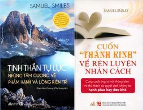 """Bìa sách """"Tinh thần tự lực: Những tấm gương về phẩm hạnh và lòng kiên trì"""" và """"Cuốn """"thánh kinh"""" về rèn luyện nhân cách"""""""