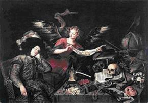 "Tác phẩm ""Giấc mơ hiệp sĩ"" của Antonio de Pereda"