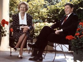 Thủ tướng Anh Margaret Thatcher và Tổng thống Mỹ Ronald Reagan bị cho là có liên hệ với Tổ chức Le Cercle - Ảnh: AFP