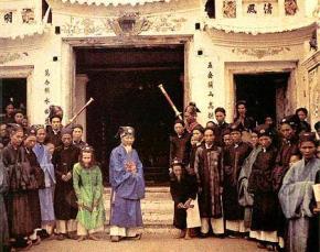 Quan lại, chức sắc địa phương Việt Nam. Ảnh chụp năm 1915.