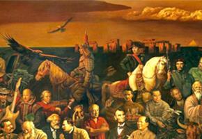 103 nhân vật nổi tiếng đông tây kim cổ trong một bức tranh sơn dầu