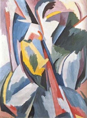 Magnelli, Explosion lyrique n° 8, 1918 (phong cách trừu tượng trữ tình)