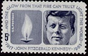 Con tem 5 cents John Kennedy là con tem bưu chính Mỹ ra 29 tháng năm 1964 nhân sinh nhật lần thứ 47 của ông.