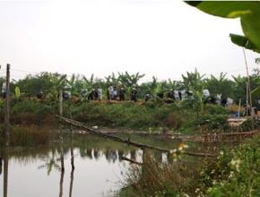 Khu đất bị giải tỏa của gia đình ông Đoàn Văn Vươn. Ảnh: báo Đất Việt