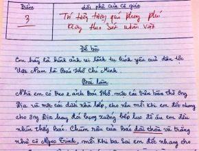 Sốc với bài làm văn của học sinh lớp 6 tả về Bác