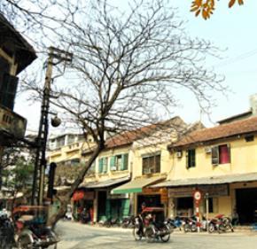Những ngôi nhà cổ trên phố Bát Đàn. Ảnh: Hoàng Minh