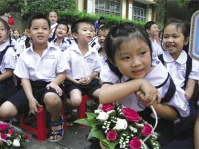 Học sinh Trường tiểu học Lê Văn Tám, TPHCM. Ảnh: ĐỨC TÀI
