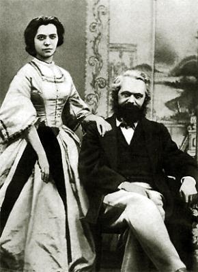 Karl Marx và con gái Jenny Marx năm 1866