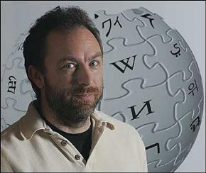 Jimmy Wales, một trong hai người sáng lập ra Wikipedia.
