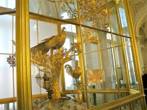 Chiếc đồng hồ chim công tại bảo tàng Hermitage