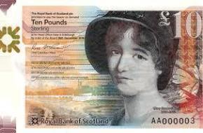 Chuyện về người phụ nữ trên tờ 10 bảng Scotland
