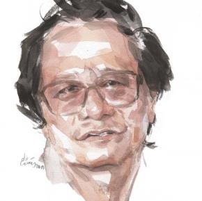 Nghệ sĩ nhân dân, đạo diễn Trần Văn Thủy. Tranh Hoàng Tường